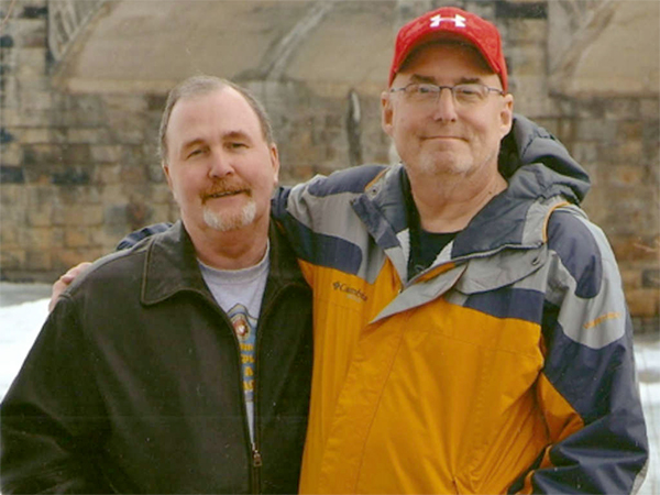Albert Snyder (left), who took his case against the Westboro Baptist Church to the Supreme Court, and Walt Fisher, his partner of more than a decade.