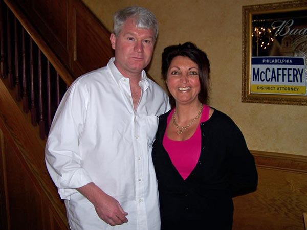 John Dougherty and Karen Brown, in a photo from a Brown campaign web site in 2011.