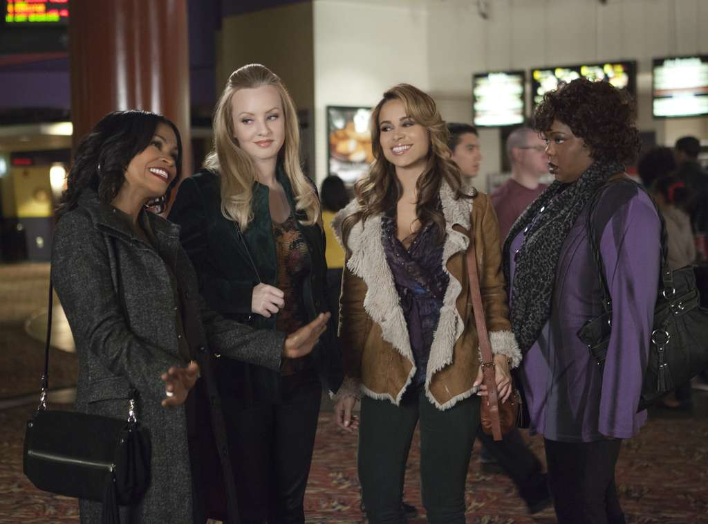 "Tyler Perry´s latest, ""The Single Moms Club,"" stars (from left) Nia Long, Wendi McLendon-Covey, Zulay Henao, and Cocoa Brown."