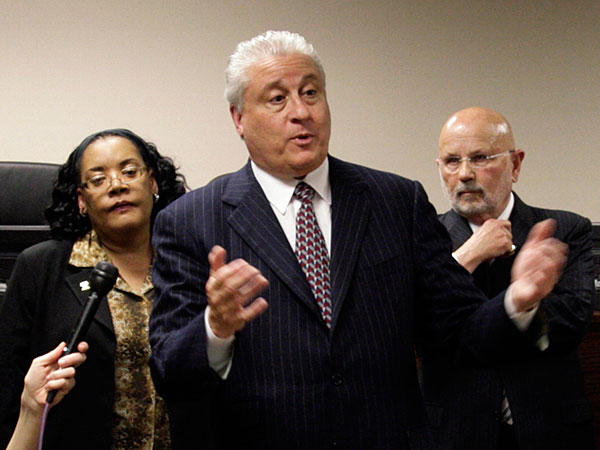 Russell Nigro, the BRT chairman, with other members in 2009. File