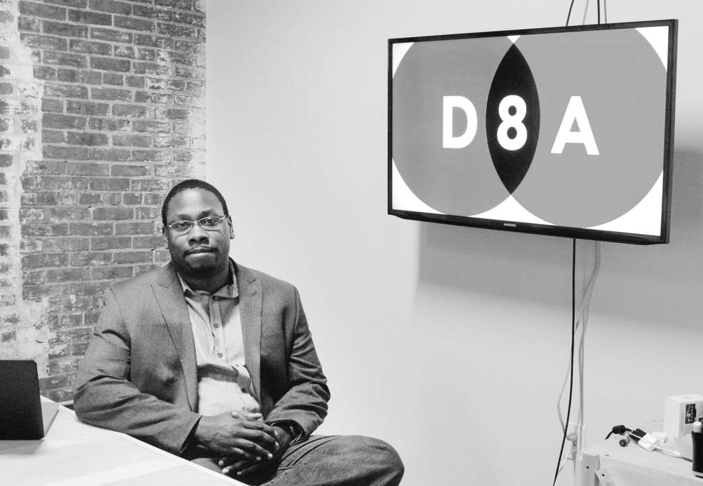 GABRIELA BARRANTES / STAFF PHOTOGRAPHER Jon Gosier´s North Philly firm, D8A Group, wants to help public agencies perform jobs smarter and fix problems in real time.