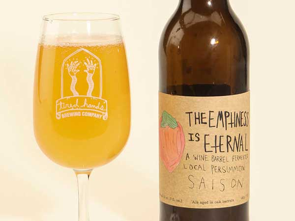 The Emptiness Is Eternal beer from Tired Hands Brewing Co.