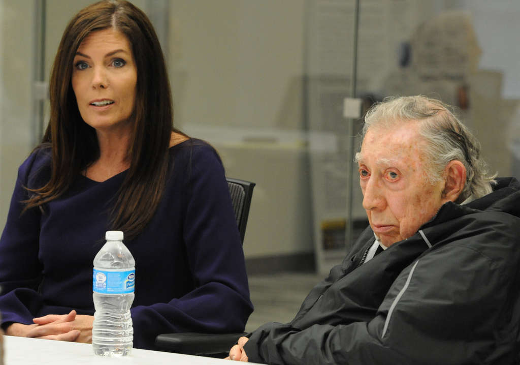 Pennsylvania Attorney General Kathleen Kane with Richard A. Sprague, whom she hired to represent her over the fallout of her decision to end a political-corruption investigation.