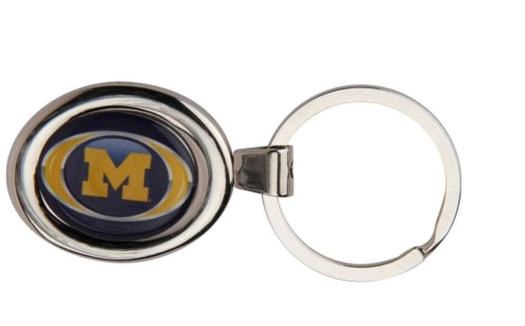 A University of Michigan key ring had 1,230 parts per million of mercury.