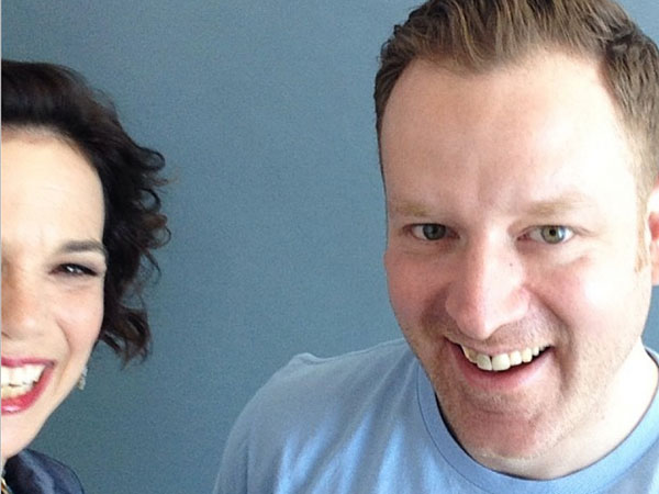 Food & Wine´s Dana Cowin in a celebratory selfie with chef Eli Kulp.