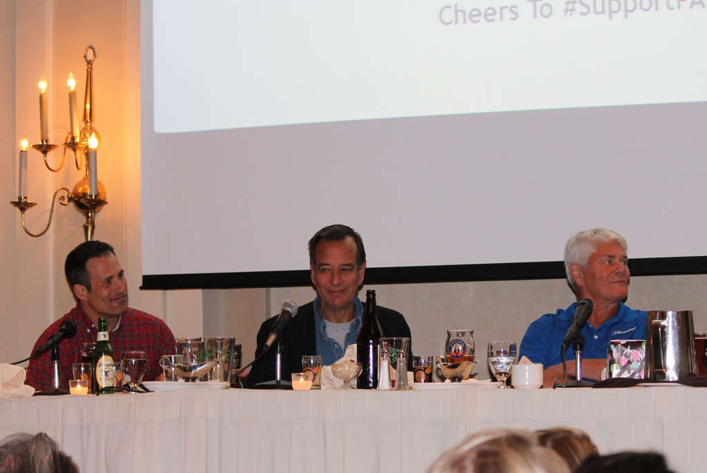 At the Meeting of the Malts last week, beer guys (from left) Sam Calagione, of Dogfish Head; Jim Koch, of Boston Beer; and Dick Yuengling, of D.G. Yuengling, took an optimistic stance on craft beer´s future.