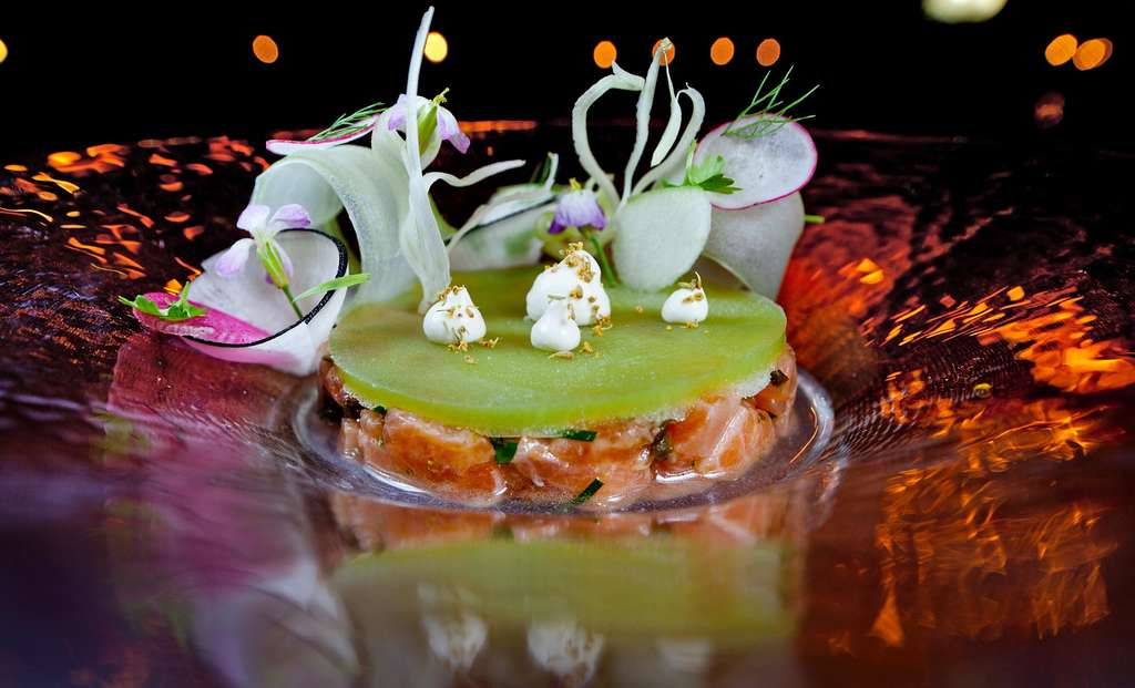 Arctic char tartare was gorgeous, but overwhelmed by a frozen disc of tart apple-fennel juice.
