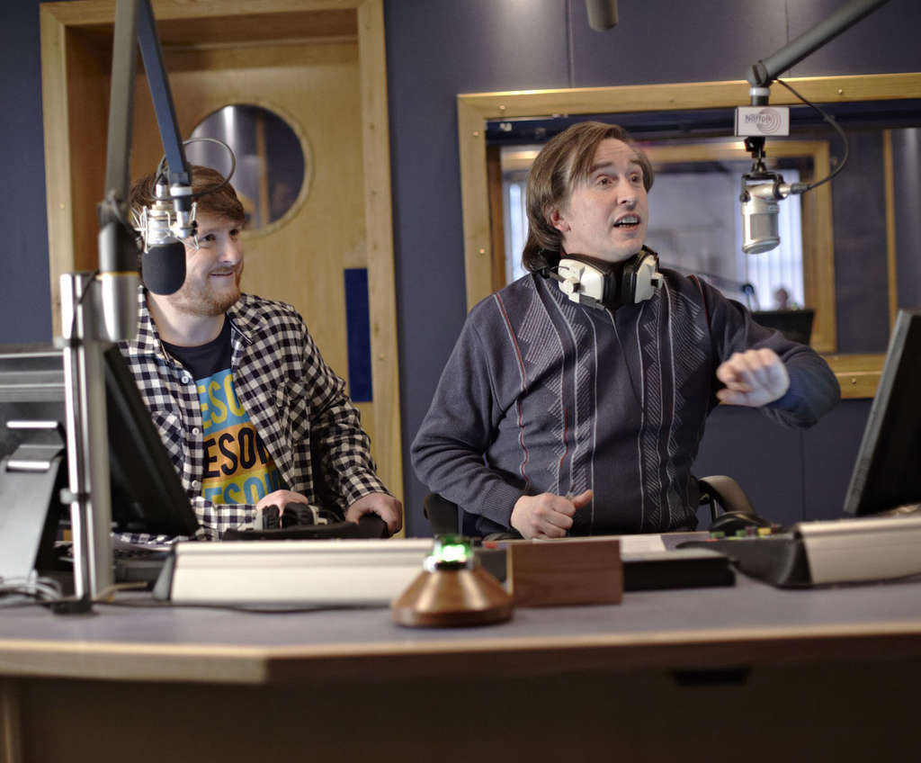 Tim Key and Steve Coogan (right), who has put in 20 years as blowhard DJ Alan Partridge.