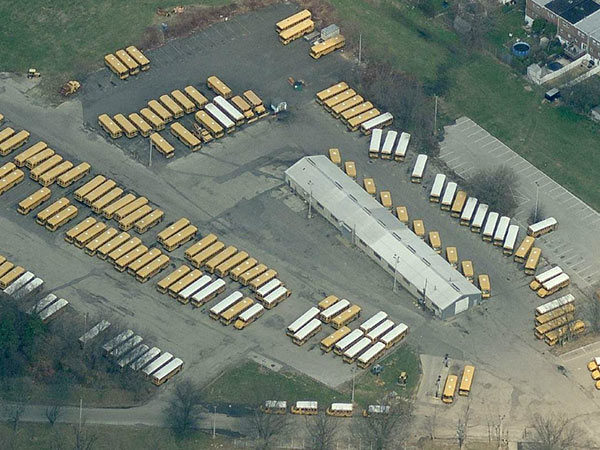 Bus driver overtime reached $35,000 in March at the district's Shallcross garage off Woodhaven Road in Northeast Philadelphia, a source said. (Google Maps)