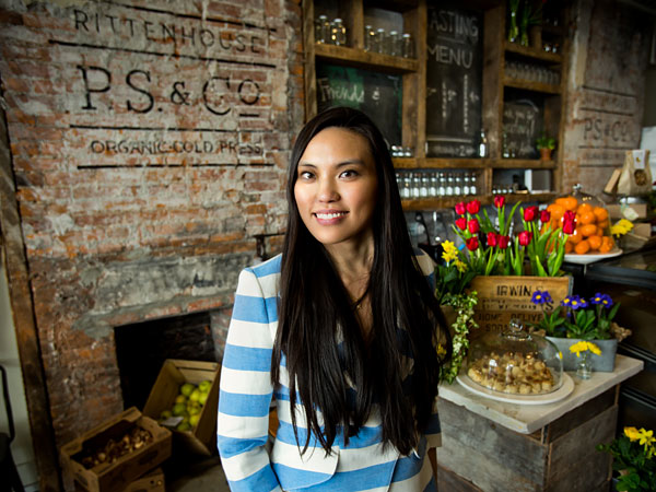Andrea Kyan, owner of Pure Sweets, is behind P.S. & Co. at 1706 Locust St.