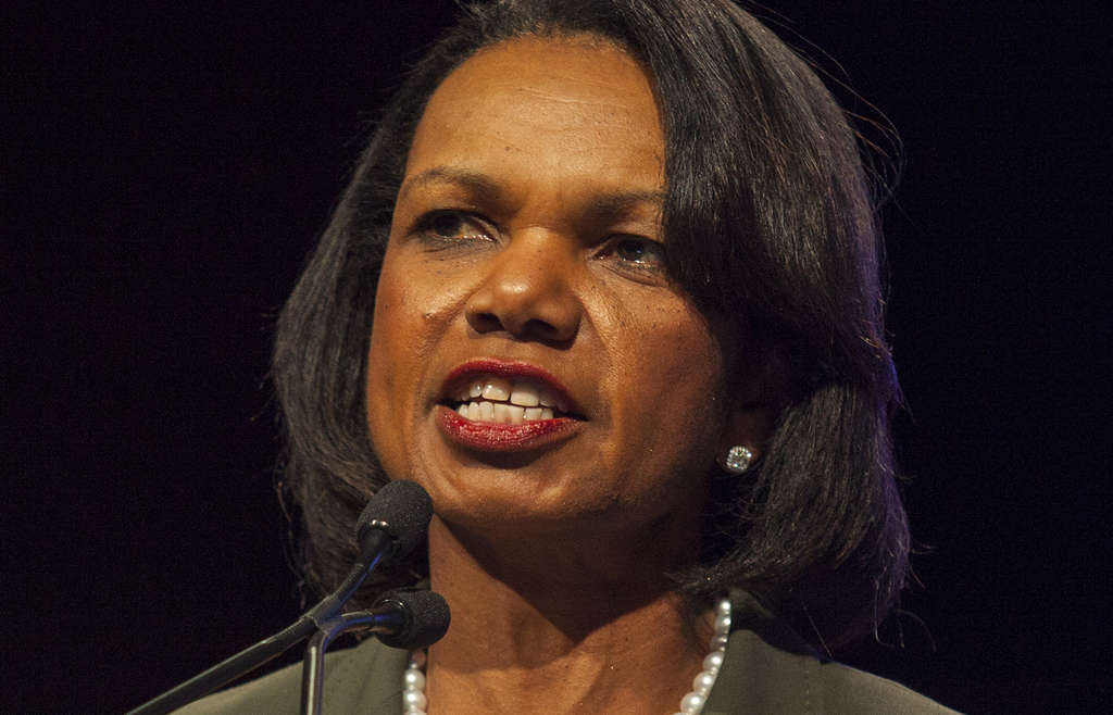 Condoleezza Rice, the former Secretary of State, canceled her speech at Rutgers.