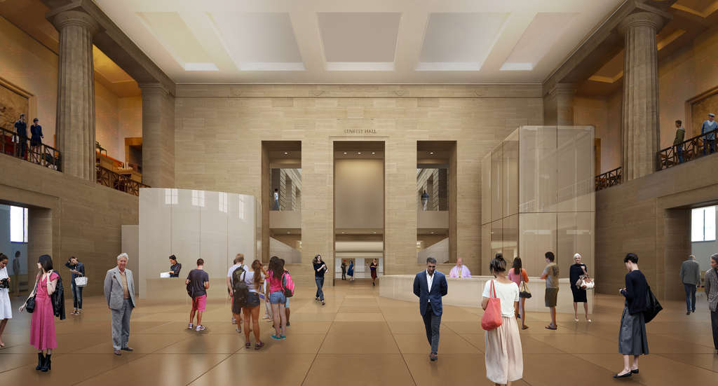 An artist´s rendering of Lenfest Hall at the expanded Art Museum.