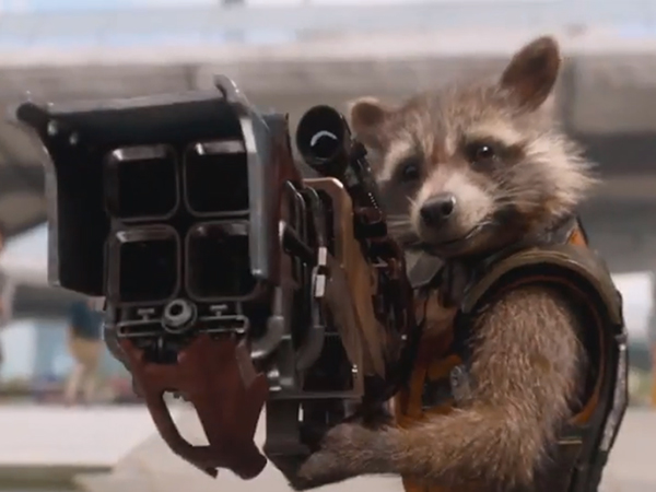 """Prepare for Rocket Raccoon (voiced by Bradley Cooper) to steal the show in Marvel´s sci-fi romp """"Guardians of the Galaxy."""""""