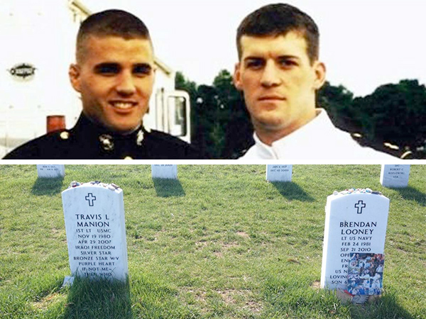 When best friends Travis Manion and Brendan Looney died defending their country, their families honored their unbreakable bond in the most profound of ways: by laying them to rest side by side at Arlington National Cemetery.