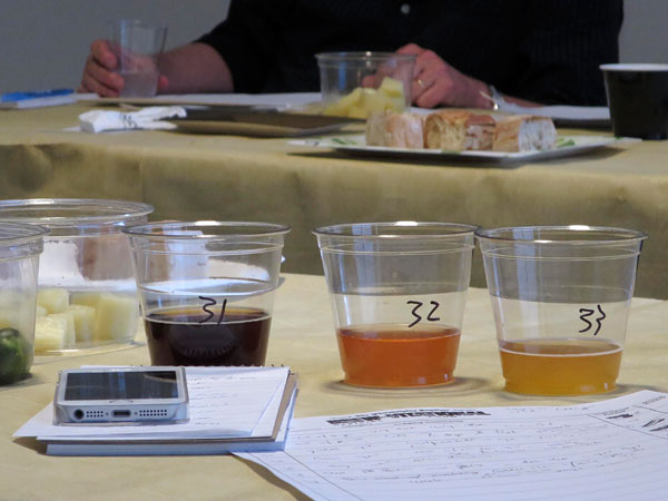 Beer glasses during the fifth annual Brewvitational at the<br />Philadelphia Inquirer, Philadelphia, May 12, 2014.v