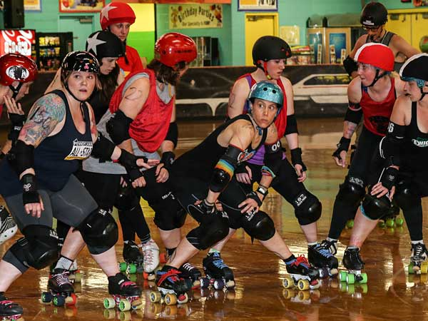 The Philly Roller Girls are tough, powerful, aggressive and, when necessary, violent. (Steven M. Falk/Staff Photographer)