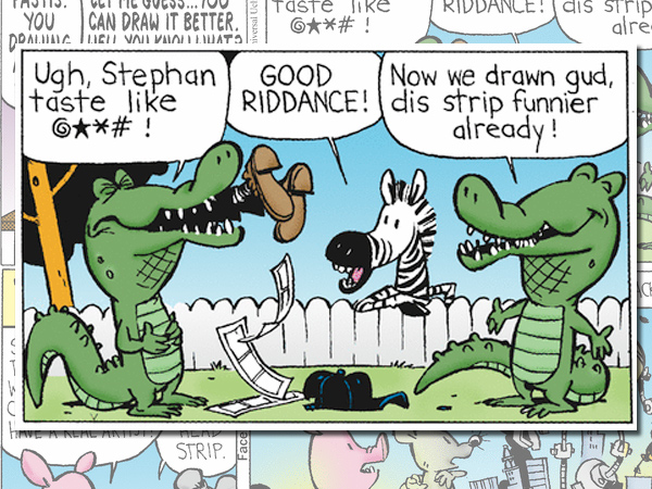 "A panel from Wednesday´s ""Pearls Before Swine"" comic strip, drawn by ""Calvin and Hobbes"" creator Bill Watterson."