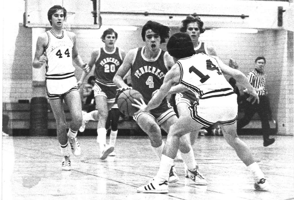 Before he was a lawyer, Kevin Morris (#4) was a Penncrest High School basketball player.