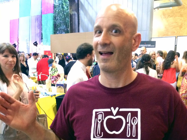 Chef Marc Vetri, in a particularly ebullient moment.