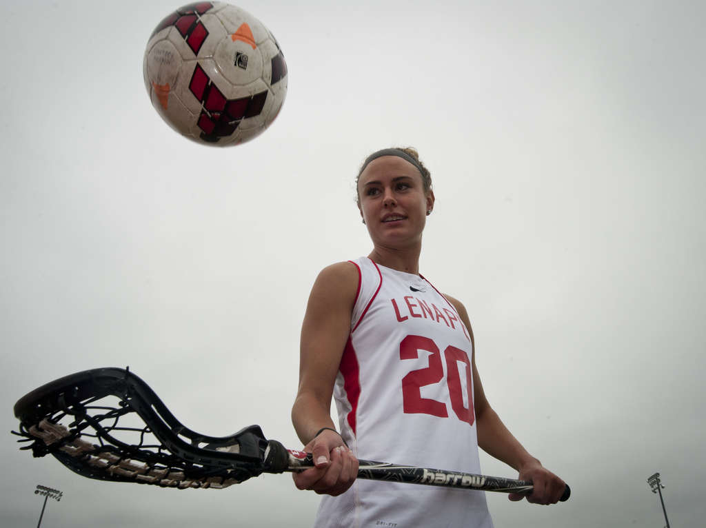 Lenape´s Courtney Norton has balanced soccer and lacrosse , excelling at both for the Indians. She led the soccer team to a South Jersey title, and the lacrosse team to a state championship in her senior year. She will focus on soccer in college, at Rutgers. RON TARVER / Staff Photographer