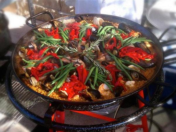 Paella, as prepared at Bar Ferdinand.
