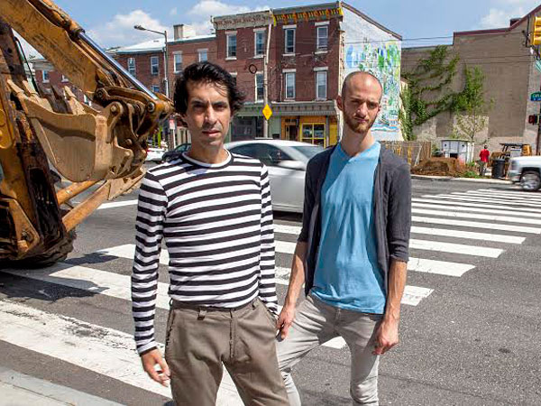 Cristian Mora (left) and chef Brian Oliveira across the street from what will be Girard (Photo: David Palumbo)