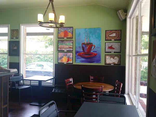 By day, Green Bean Coffee in Gladwyne.