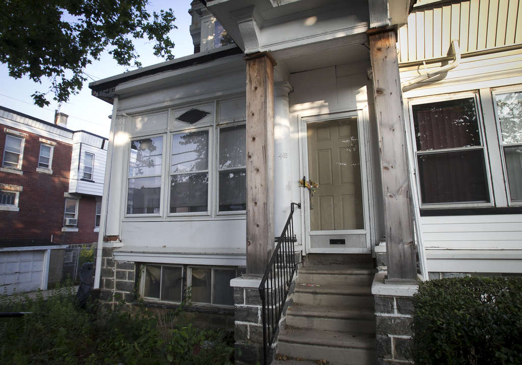 The District Attorney´s Office won a ruling allowing the city to seize this house in the 400 block of South 62d St. because the owner´s son was charged with selling marijuana from it.