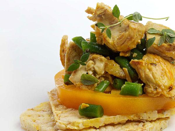 Saffron Chicken, Lemon and Green Bean Salad.