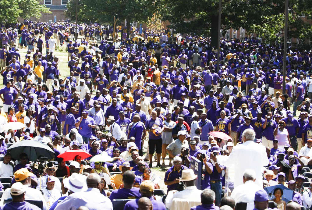 MILBERT O. BROWN / THE ORACLE Omegas gather by the thousands for the 2011 conclave at Howard.