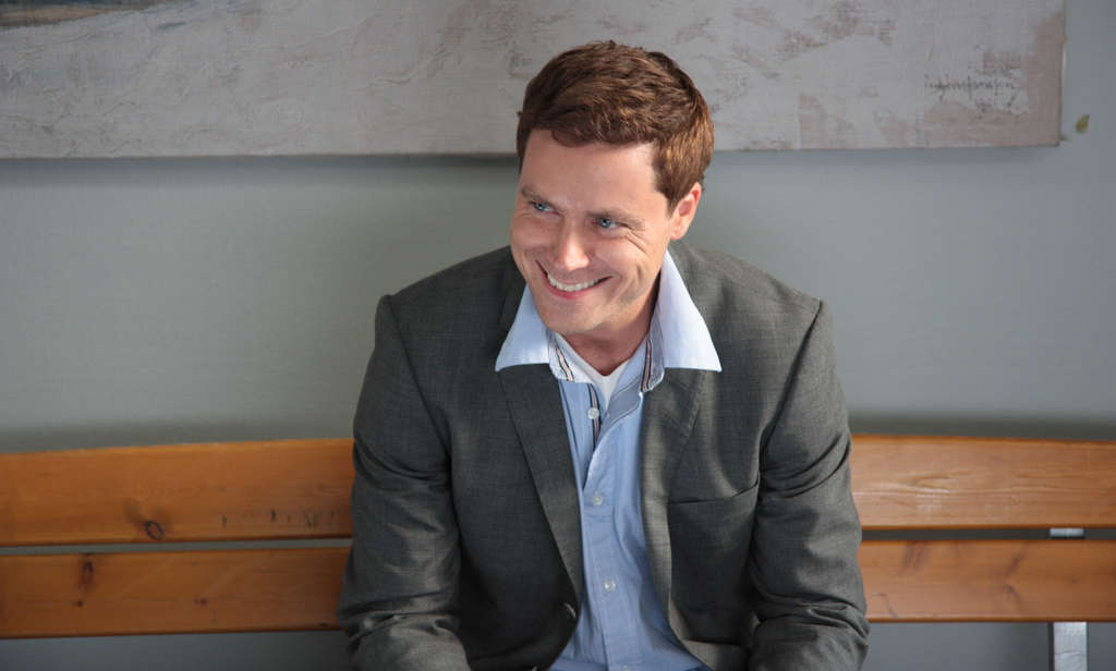 "Greg Poehler stars as Bruce Evans in the comedy ""Welcome to Sweden"" on NBC."
