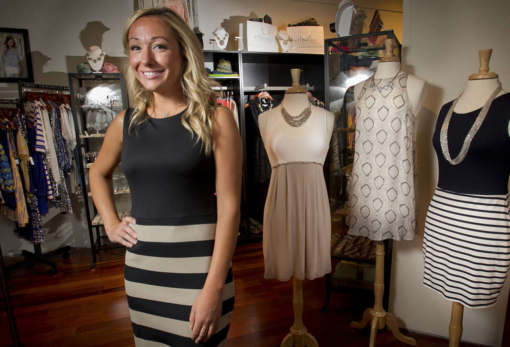 ALEJANDRO A. ALVAREZ / STAFF PHOTOGRAPHER Liz Rymar founded fashion brand Ellelauri in 2009, selling online and to wholesalers at first. Now she has one store in Avalon, N.J., and another in Center City - and has designs for more.