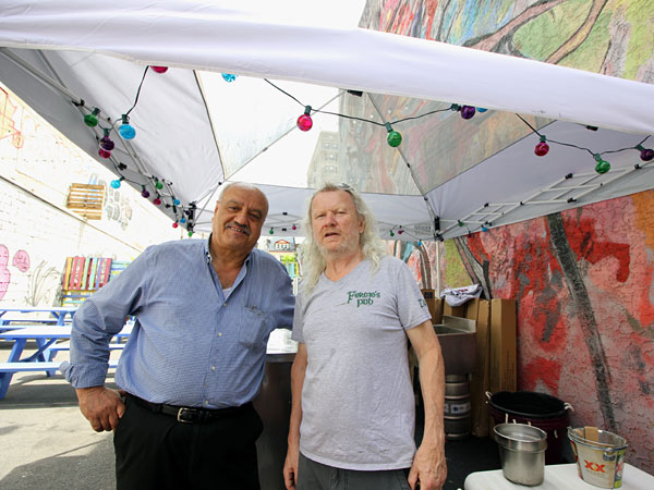 Wajih Abed and Fergus Carey at Fergie´s new beer garden, 1214 Sansom St.