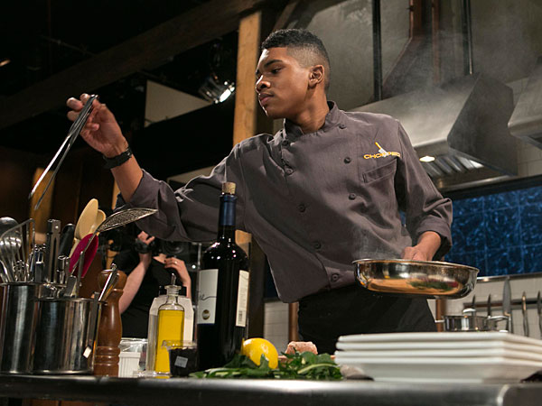 """Brandon Medley of Sewell competing on """"Chopped."""""""