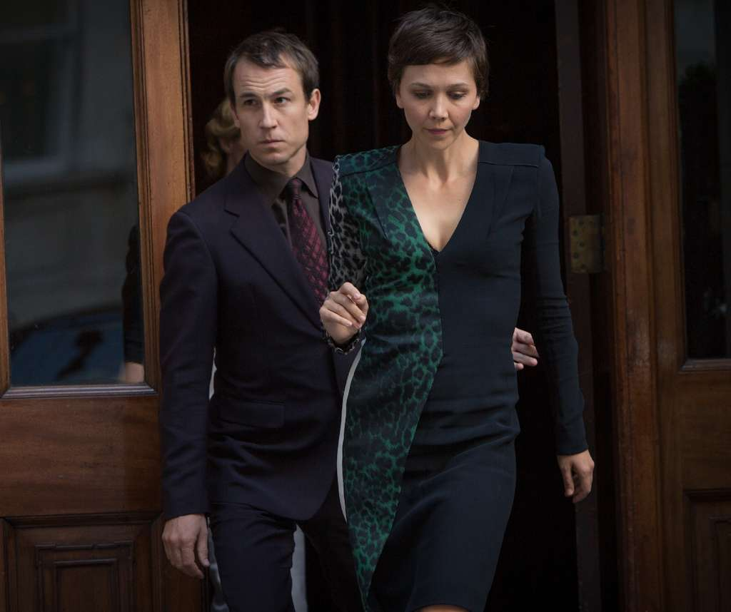 "Tobias Menzies and Maggie Gyllenhaal in ""The Honorable Woman."" The script by Hugo Blick is reminiscent of a John le Carré thriller, and the cast is excellent."