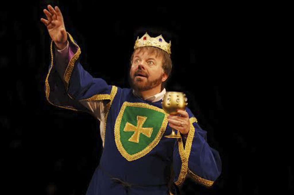 """Broadway veteran Kelly Briggs heads the excellent cast of the Surflight´s production of """"Spamalot."""""""