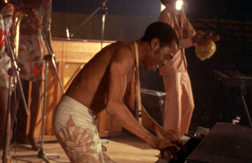 Fela Kuti in the documentary of the pioneering Nigerian musician, who died of AIDS in 1997. Much of the content is from the Tony- winning musical.