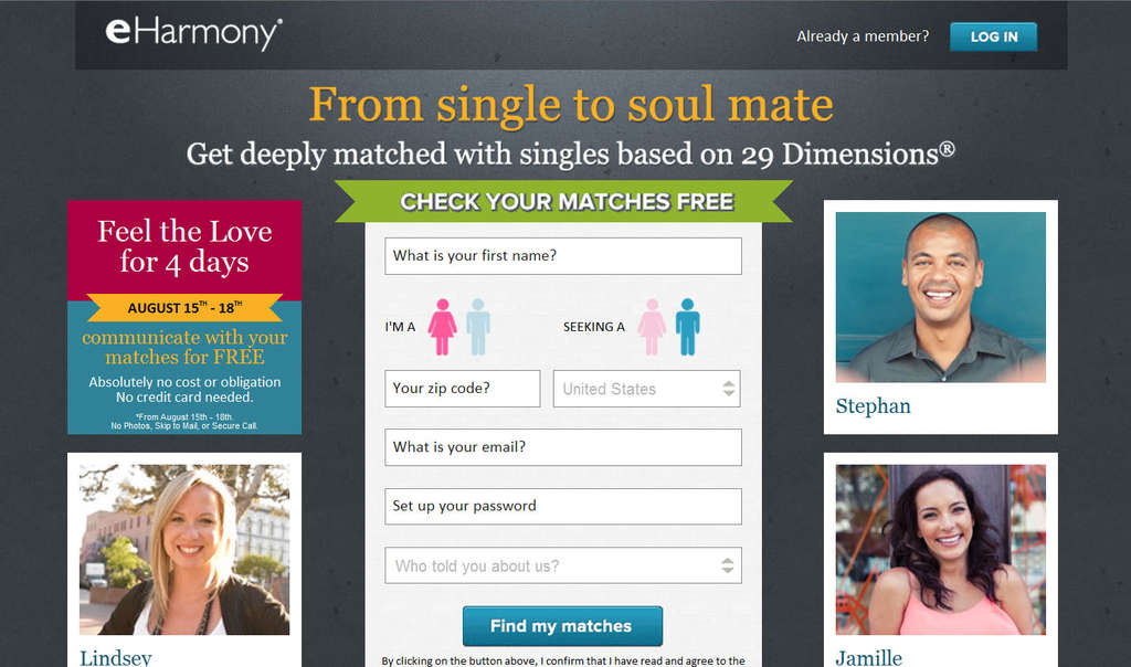 Rival Match.com challenged eHarmony.com´s saying it had made a greater number of satisfying, longer-lasting marriages, among other assertions.