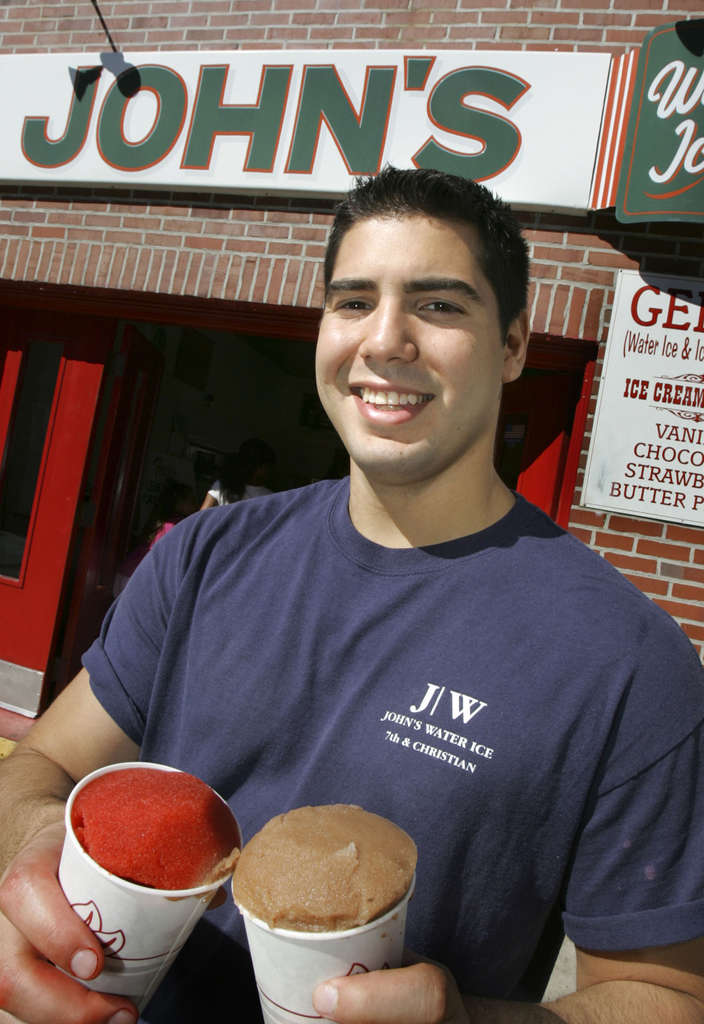 Owner Anthony Cardullo Jr., with cherry and chocolate.