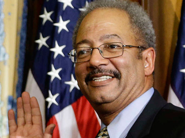 Rep. Chaka Fattah, D-Pa., Thursday, Jan. 3, 2013, on Capitol Hill in Washington as the 113th Congress began. (AP Photo/Charles Dharapak)
