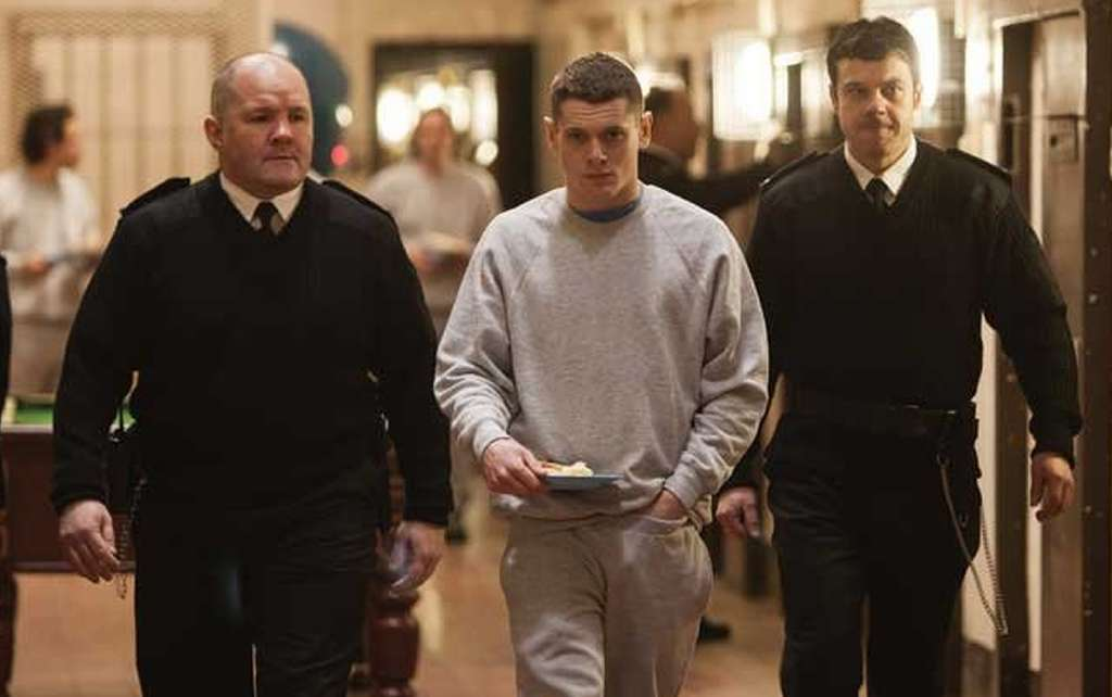 "Jack O´Connell is prisoner Eric in ""Starred Up,"" a gritty British prison drama with a fascinating subplot about an anger-management group. Tribeca Films"