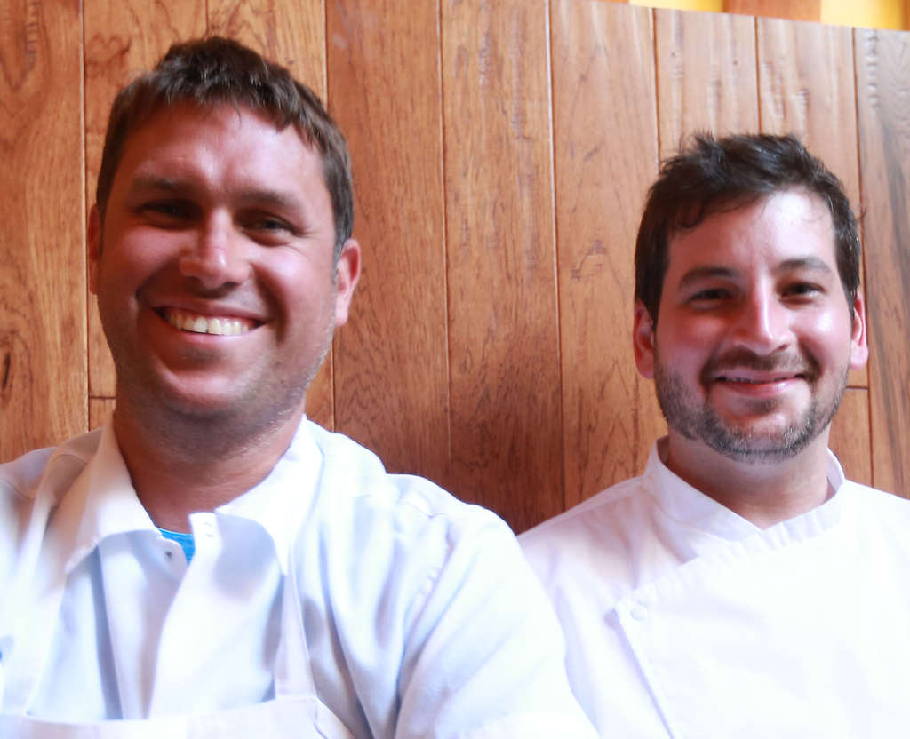Treemont owner Chip Roman (left) with chef Rob Sidor, has had much success with other restaurants.
