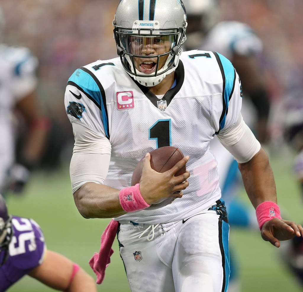 ELIZABETH FLORES / MCT Panthers´ Cam Newton has just six rushing attempts in two games so far.