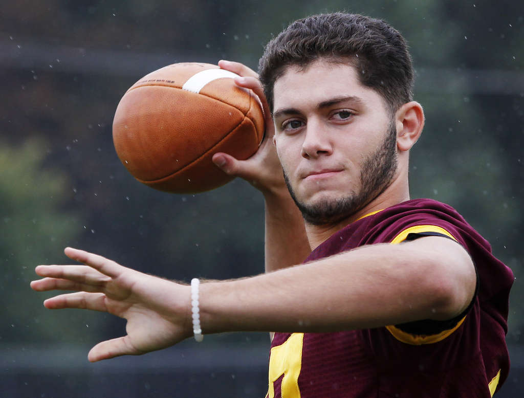 Mike Maldonado has completed 14 of 26 passes for 328 yards and six touchdowns this year, two seasons after leaving the Glassboro football team.