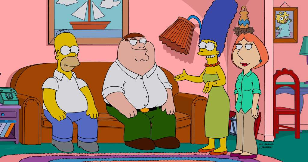 "The season premiere of ""Family Guy"" brings an encounter with the Simpsons, carrying on a long tradition of crossovers between sitcoms - animated and not."