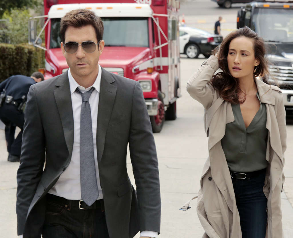 """Stalker,"" pure terror porn, stars Maggie Q and Dylan McDermott as detectives who investigate incidents."