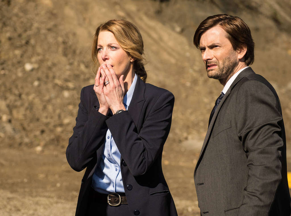 """Gracepoint,"" starring Anna Gunn and David Tennant is a 10-part series transplanted from Britain and retooled for an American audience. Fox"