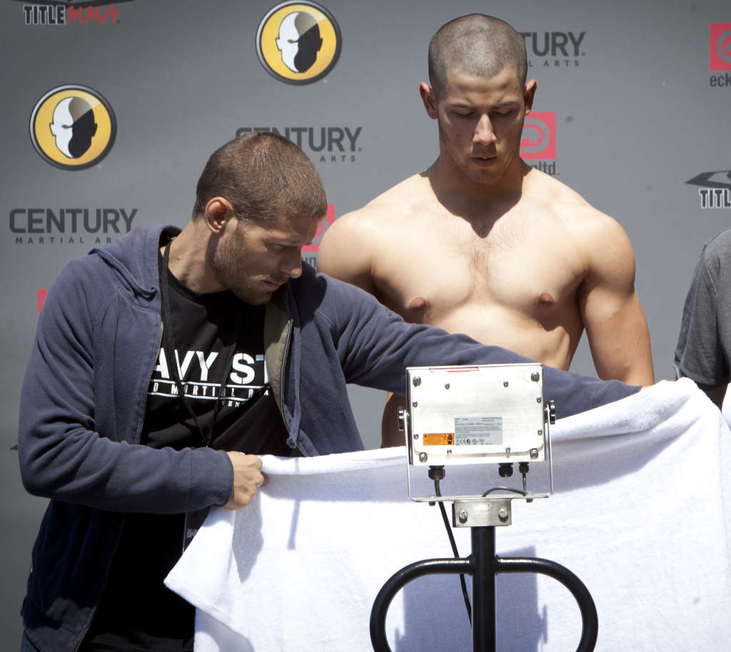 "Matt Lauria (left) and Nick Jonas star on DirecTV´s drama ""Kingdom,"" about mixed martial arts fighting."