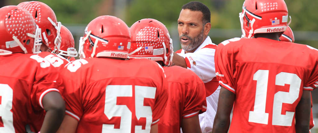 Paulsboro coach Glenn Howard , talking to his players during a timeout, is 249-52 in 27 years. CHARLES FOX / Staff Photographer