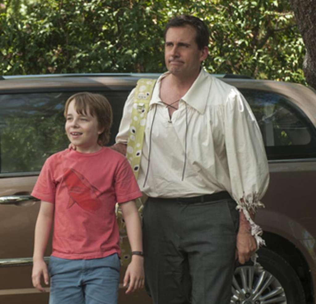 """Steve Carell is Ben and Ed Oxenbould is Alexander, his son, in the expansively titled """"Alexander and the Terrible, Horrible, No Good, Very Bad Day."""""""